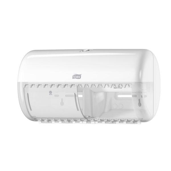 Dispenser hartie igienica Tork 2 role mici Alb