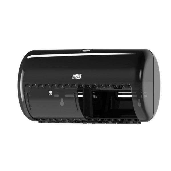 Dispenser hartie igienica Tork 2 role mici Negru